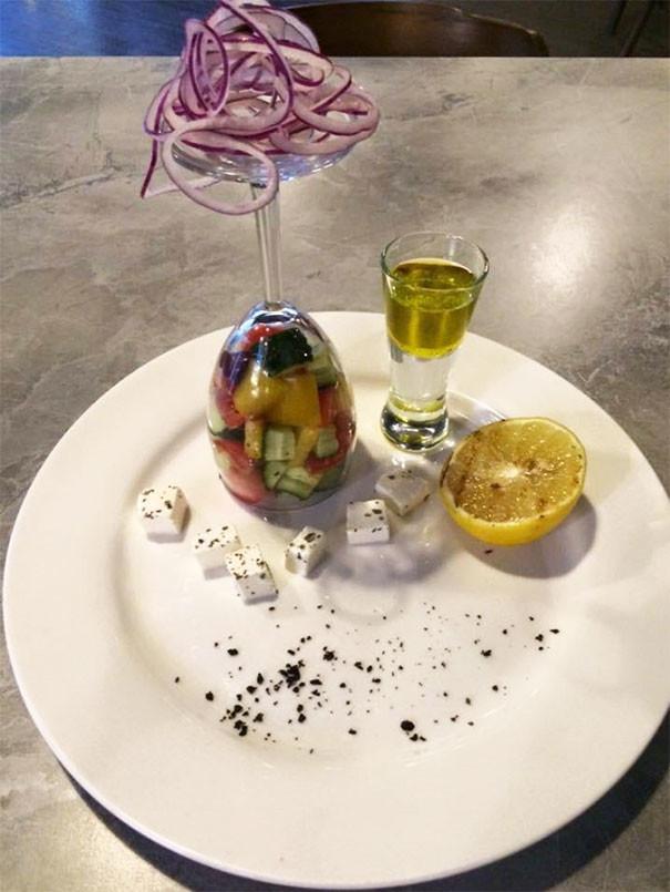 """Салат """"Сделай сам"""" блюда, еда, изыски, оформление блюд, подача блюд, ресторан, смешно, странные фантазии"""