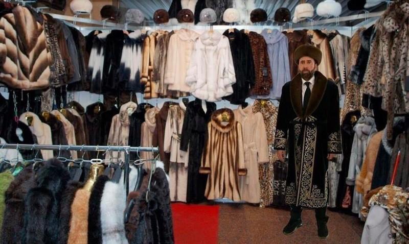 Поговаривают, что в Казахстане Кейдж переплюнул по популярности самого президента  казахстан, николас кейдж, прикол, соцсети, фотожаба, юмор
