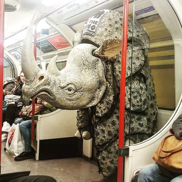 В метро Лондона  люди, метро, мир, подземка, прикол, фото, фрик, юмор