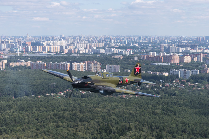 Перегон Ил-2 из Раменского в Кубинку 9 августа 2017 года ил-2, кубинка, самалёт