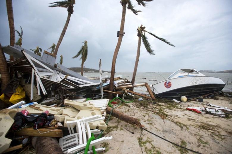 Пляж в Мариго, Сен-Мартен, после урагана Ирма Центральная Америка, ирма, катастрофа, разрушения, стихийное бедствие, стихия, ураган, флорида