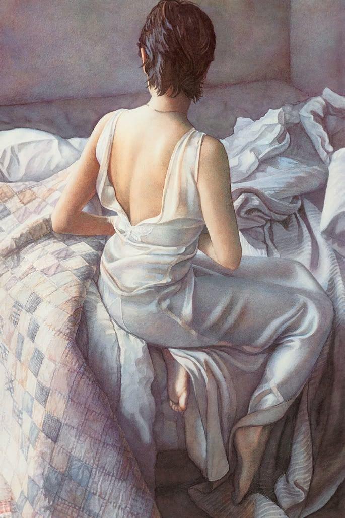 Чувственные картины Стива Хэнкса в стиле «эмоционального реализма» Стив Хэнкс, акварель, девушки, искусство, красота, рисунок, художник