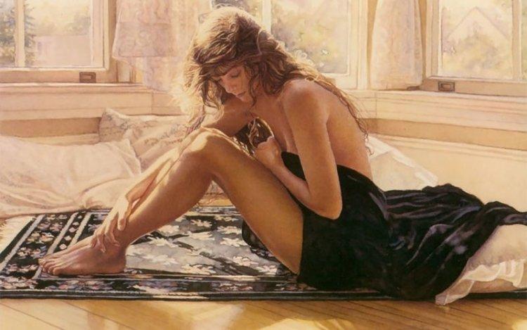 «Я стараюсь быть очень ответственным и добавить своим творчеством положительные образы в наш мир» Стив Хэнкс, акварель, девушки, искусство, красота, рисунок, художник