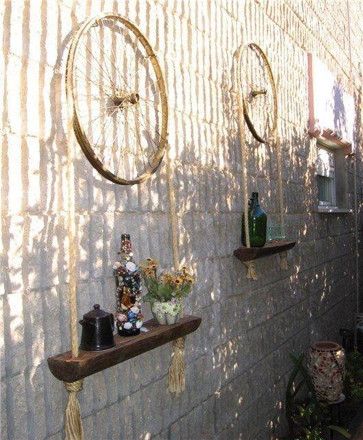 8. И на даче пригодятся велосипед, интересно, колесо, очумелые ручки, своими руками, фото