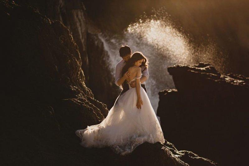 Город Пасифика, Калифорния, США. Любовь, отношения, свадебное фото, свадьба, фото, фотограф, фотография
