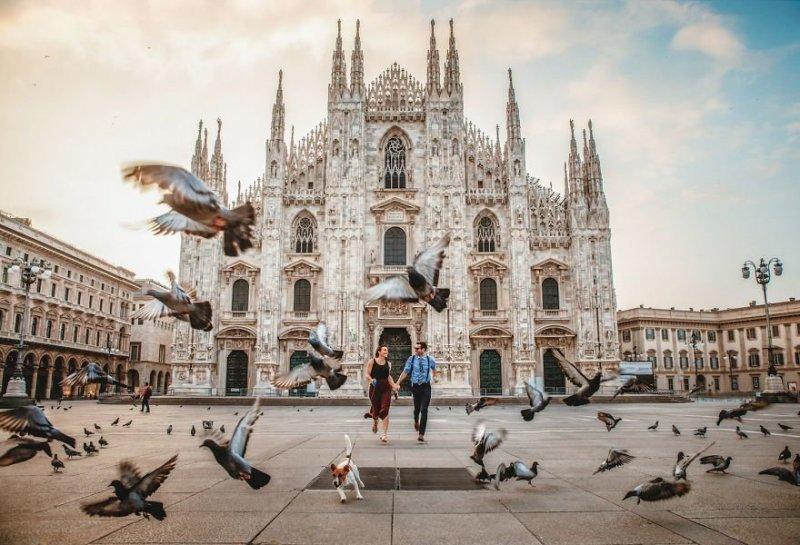 Милан, Италия. Любовь, отношения, свадебное фото, свадьба, фото, фотограф, фотография