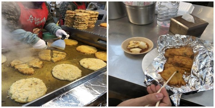 12. Панкейк из маша (бобов мунг): $4 еда, еда быстро, сеул, уличная Еда, уличная еда, фастфуд, южная корея