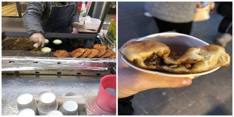 11. Сахарный панкейк: $2 еда, еда быстро, сеул, уличная Еда, уличная еда, фастфуд, южная корея