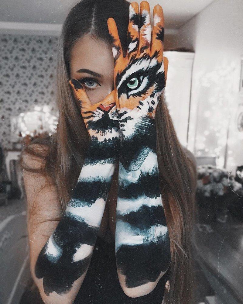… и до свирепых болььших кошек Моника Фальчик, визажист, грим, иллюзия, красота, люди, макияж, художник