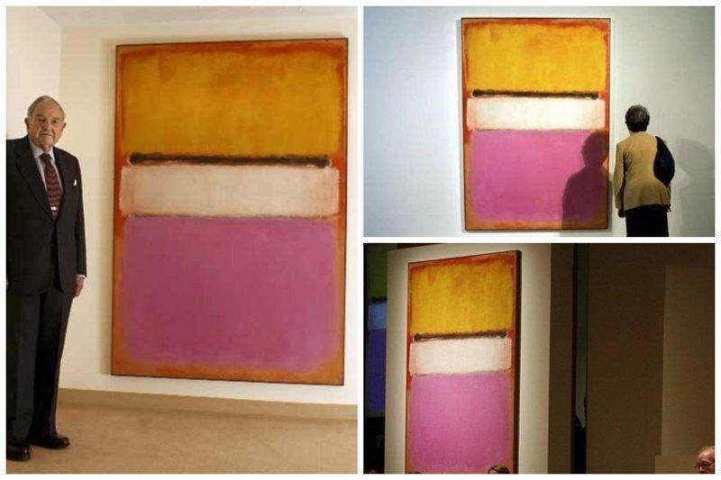 """Полотно Марка Ротко """"Белый центр""""   $72,800,000 / продано на Sotheby's богато, вещи, дорого, миллиардеры, покупки"""