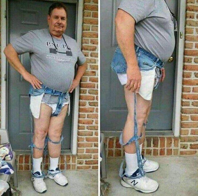 А так на обычных людях девушки, джинсы, мода, одежда, прикол, рваные, юмор