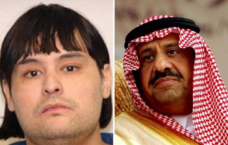 Энтони Жиньяк в 1991 году и Халид ибн Султан Аль Сауд, за которого он себя выдавал  Энтони Жиньяк, арест, мошенник, принц, самозванец, свинина, фото