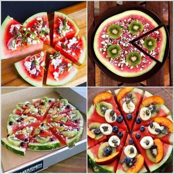 Арбузно-фруктовая пицца еда, красота, летнее настроение, простые рецепты, фрукты