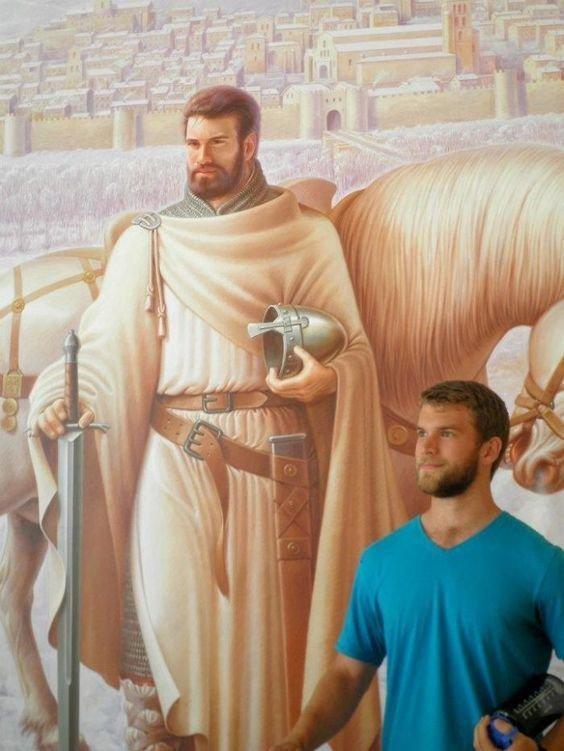 9. Тор, изображенный после того, как спас Асгард. Веселые, музей, портрет, произведение искусства, реинкарнация, фантазия