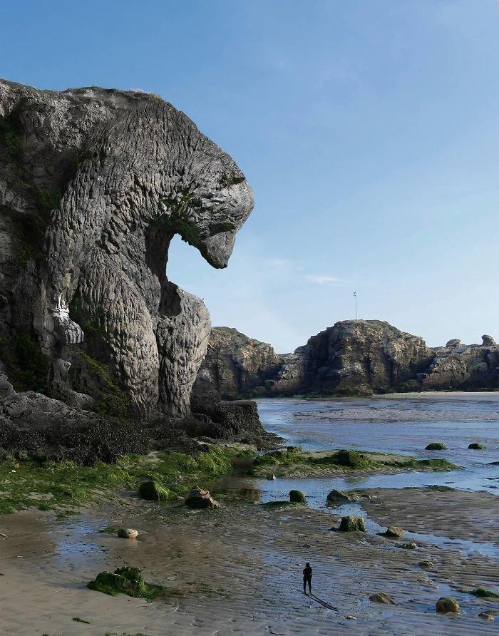 Художник создает сюрреалистические пейзажи, балансирующие между природой и другим измерением photoshop, Польша, животные, искусство, пейзаж, художник