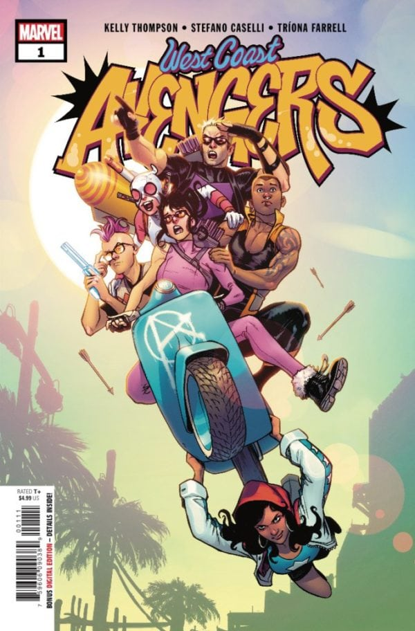 Capa de West Coast Avengers #1 por Stefano Caselli.