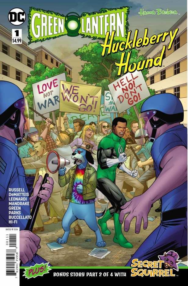 Capa de Huckleberry Hound/Green Lantern Special #1 por Sami Basri e Paul Mounts.