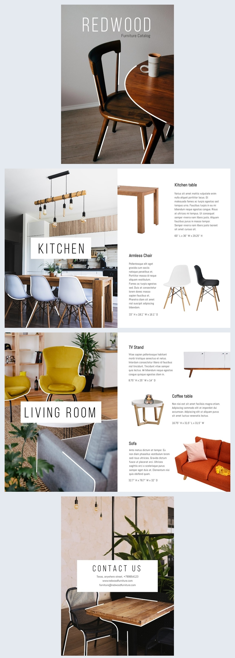 modele de catalogue de meubles en bois