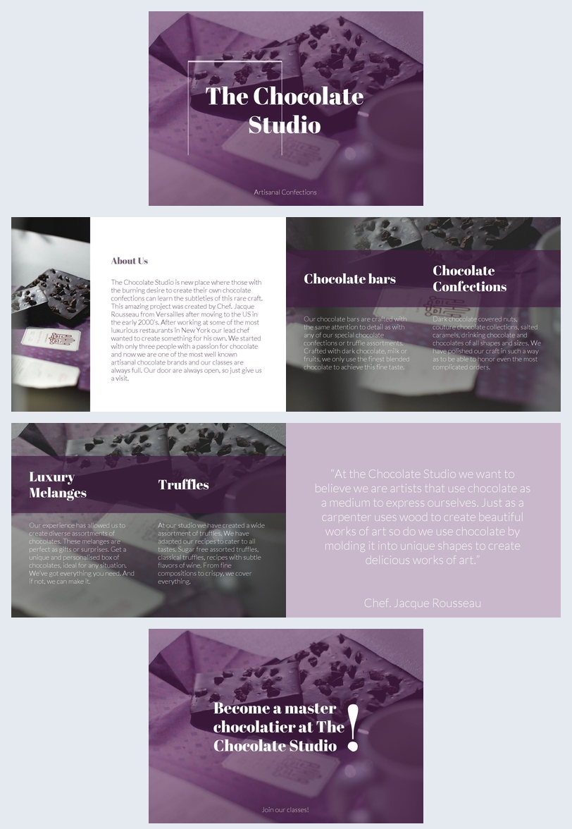 Elegant Chocolate Shop Brochure Template Flipsnack