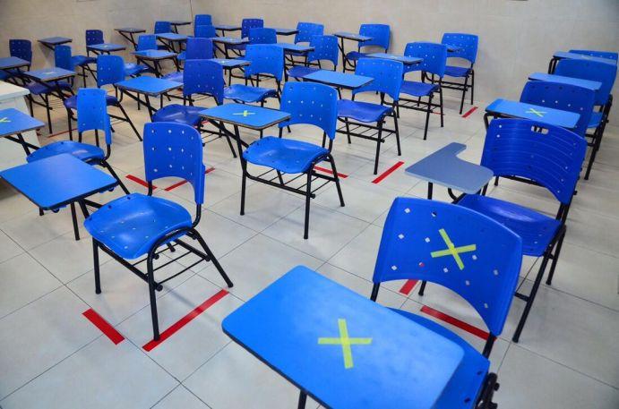 Sala de aula de escola particular