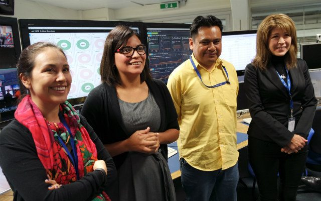De izquierda a derecha: Isabel Pedraza, Indara Suárez, Severiano Carpinteyro y Cecilia Uribe.