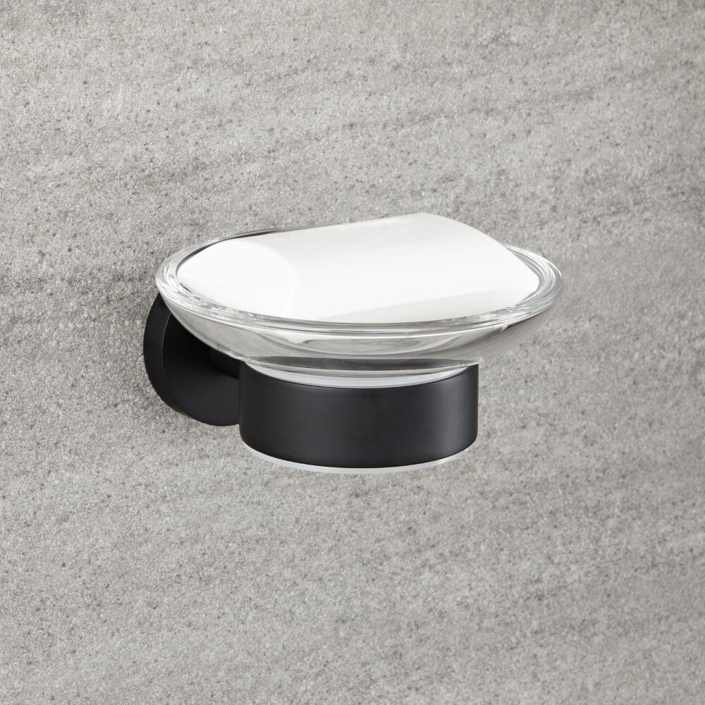 porte savon noir mat nox