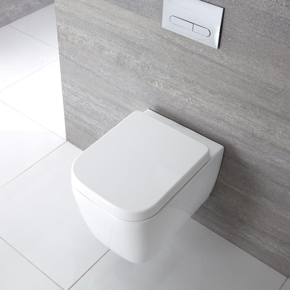 cuvette wc suspendu moderne blanc milton