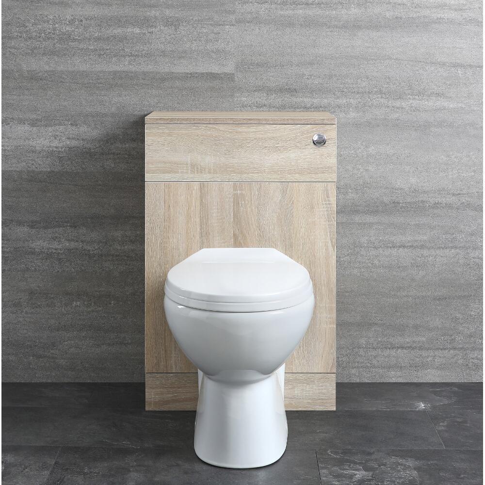 meuble wc 50 cm et wc a poser reservoir et abattant classic oak