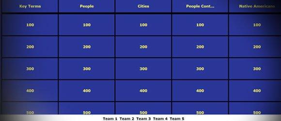 Jeopardy Templates Online