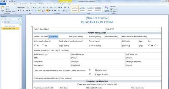 Free Registration Form Templates registration cards template – Club Membership Form Template Word