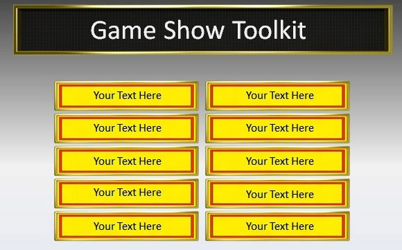 Game Show Templates. trivia time game show template. blank game ...