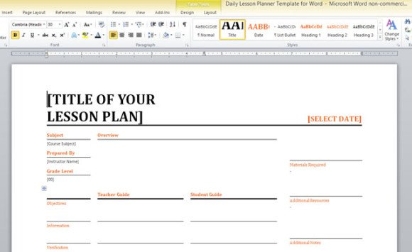 Unit Plan Template Word. our mission is to make this site a best ...