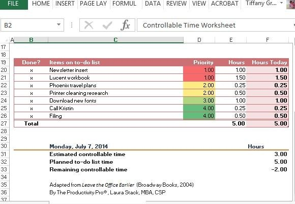 Controllable Time Worksheet Template For Excel