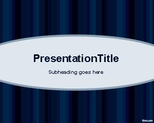 Free Dark Blue Physics PowerPoint Template