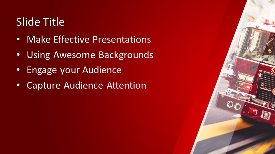 Free Fire Truck PowerPoint Template Free PowerPoint Templates