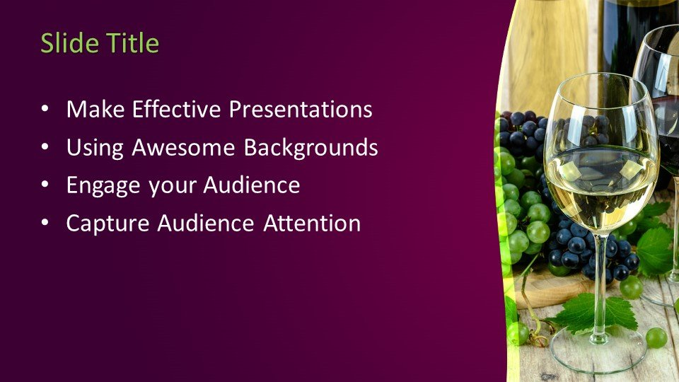 Free Wines Powerpoint Template Free Powerpoint Templates