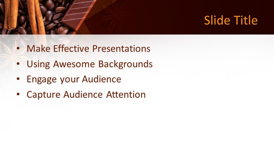 Free Chocolate Grains Powerpoint Template Free
