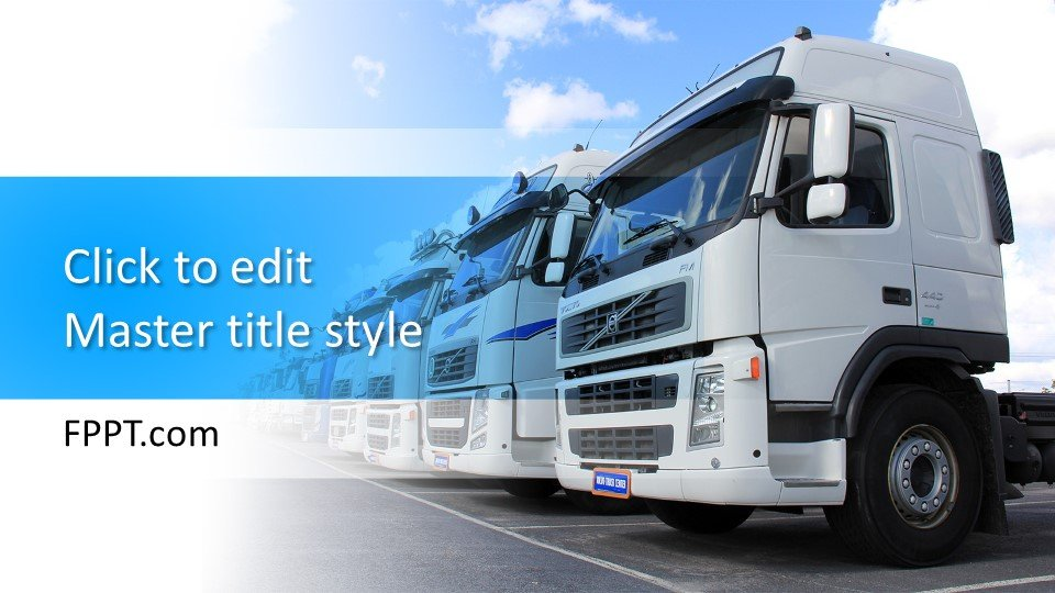 Free Truck PowerPoint Template Free PowerPoint Templates
