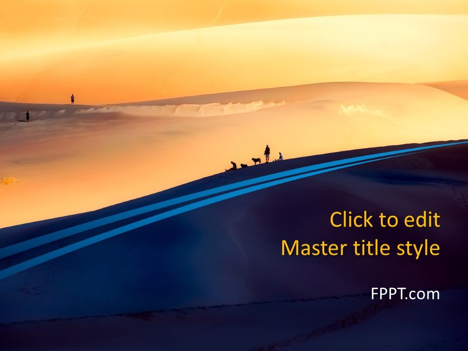 Free Nature PowerPoint Templates Free Dunes PowerPoint Template