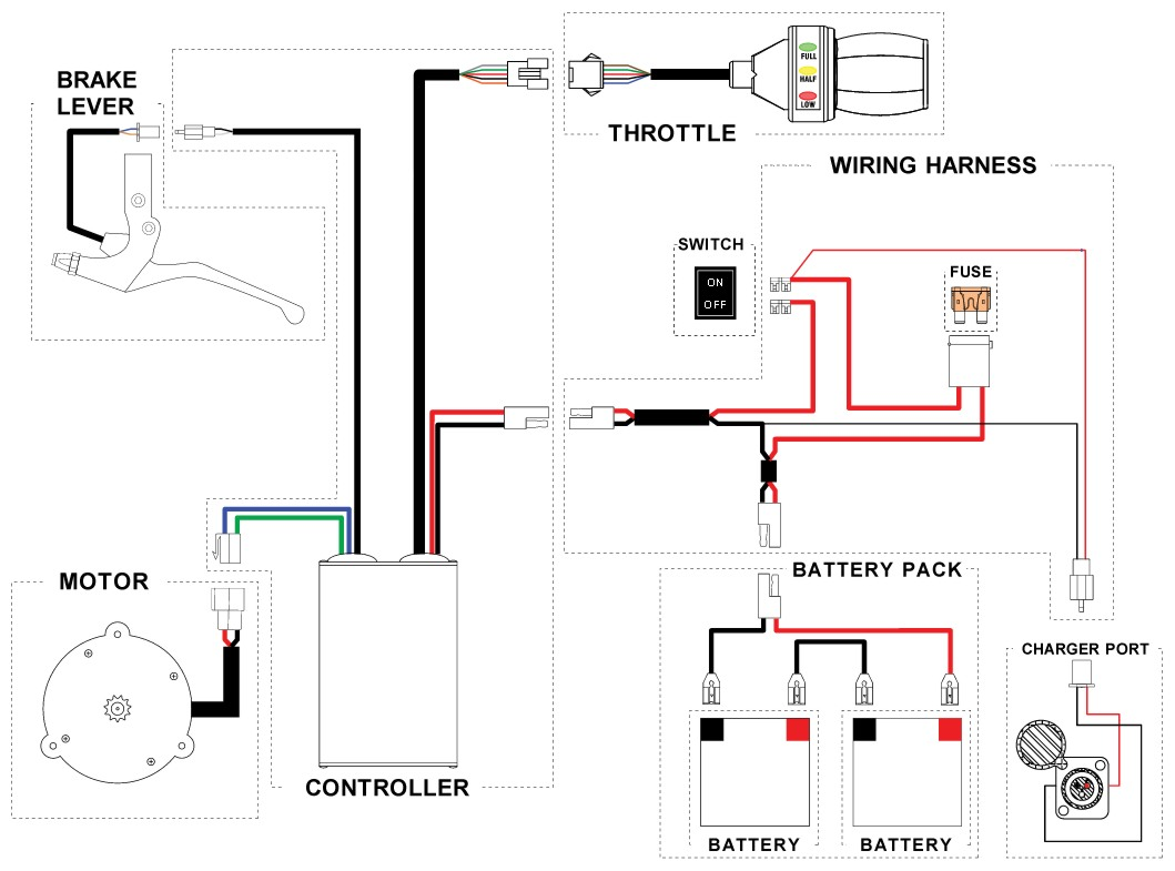 Zapino Electric Scooter Wiring Diagram