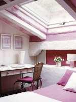 kleines schlafzimmer ideen für gemütliches schlafzimmer dachschräge im pink   fresHouse