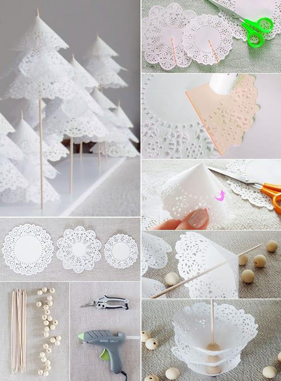 Bastelideen Weihnachten Mit Papier Platzdeckchen Fr DIY