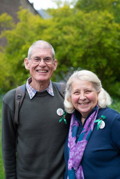 Michael and Angela Green were awarded the David Gladwell prize for their tree campaign