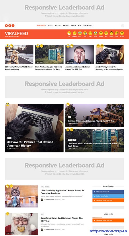 Viralfeed-virall-buzz-wordpress-tema