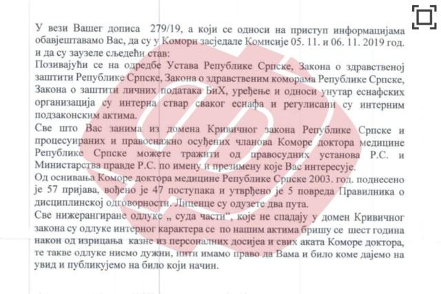 комора доктора медицине републике српске, одговор, одговорност љекара