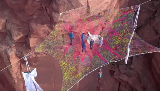 Daredevil Couple Marry on a 'Spacenet' Suspended 400 Feet Above Canyon