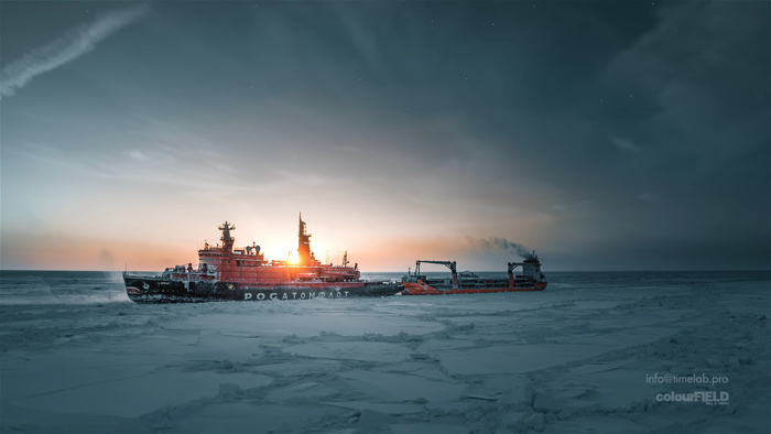 Utterly Mesmerizing Video of World's Biggest Nuclear Icebreaker Shot With a DJI Drone