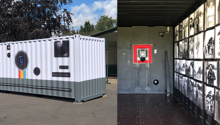 Photographer Creates Huge Functioning Camera From a Shipping Container, Complete With Dark Room Inside