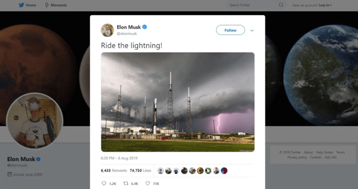 Elon Musk Uses Image Without Permission or Credit, Begins Blocking Anyone Who Challenges Him