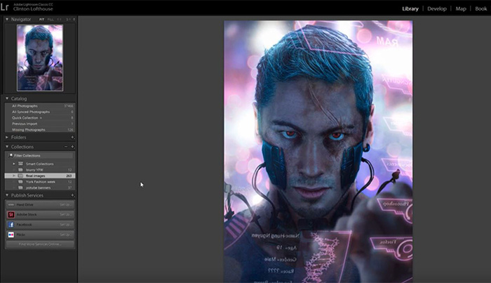 Create a Cyberpunk Portrait From Stock in Photoshop
